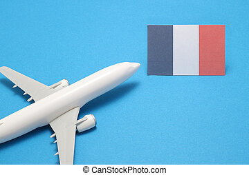 Trip by airplane to France.