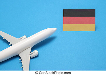 Trip by airplane to Germany.