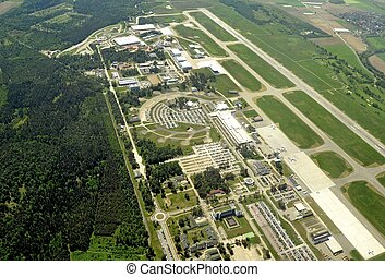 Baden Airpark aerial - aerial view of the Baden Airpark near...