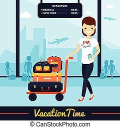Travel Luggage Illustration - Travel luggage illustration...