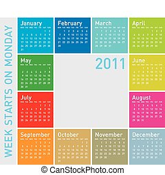 Colorful Calendar 2011