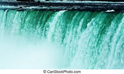 Niagara Falls slow motion close up