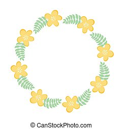 Floral frame for text, summer frame. Vector illustration