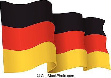 Germany vector flag isolated on whi