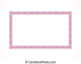 abstract artistic floral border