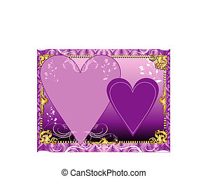 Purple Lavender Template - Vector Illustration. A template...