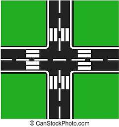 junção, estrada