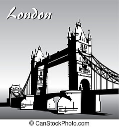 london - vector image of london symbols Famous London Bridge...