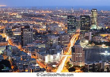 Cityscape - Skyline - Tel Aviv at sunset, Israel