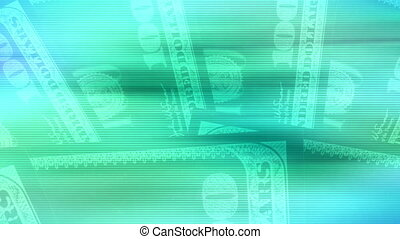 Money Backgrounds loop - Blue green looping money background