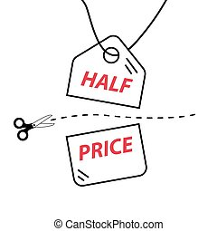 Cut price vector illustration