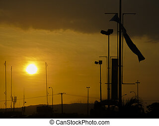 Sunset Urban Scene Guayaquil Ecuador - Sunset urban scene...