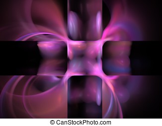 Purple Background with Tiles