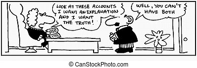 Accountant 15 - Cartoon about finance, humor, humour.