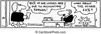 Accountant 21 - Cartoon about finance, humor, humour.