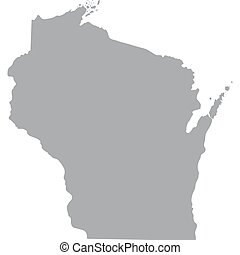 U.S. state of Wisconsin - map of the U.S. state of Wisconsin