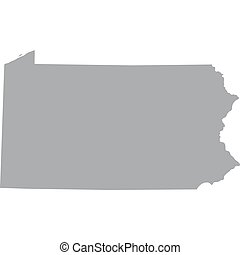 US state of Pennsylvania - map of the US state of...