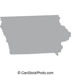 US state of Iowa - map of the US state of Iowa
