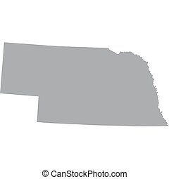 US state of Nebraska - map of the US state of Nebraska