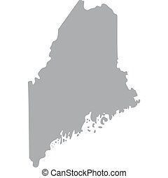 state of Maine - map of the U.S. state of Maine vector