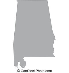 U.S. state of Alabama - map of the U.S. state of Alabama