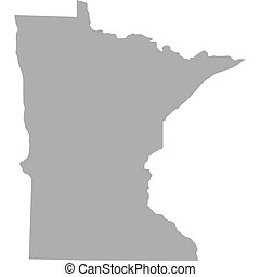 U.S. state of Minnesota - map of the U.S. state of Minnesota