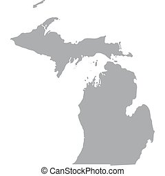 US state of Michigan - map of the US state of Michigan