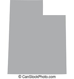 map US state of Utah - map of the US state of Utah