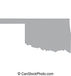 US state of Oklahoma - map of the US state of Oklahoma