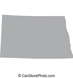 US state of North Dakota - map of the US state of North...