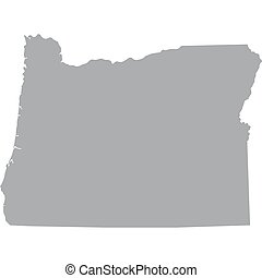 US state of Oregon - map of the US state of Oregon