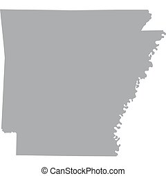 US state of Arkansas - map of the US state of Arkansas