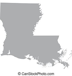 US state of Louisiana - map of the US state of Louisiana