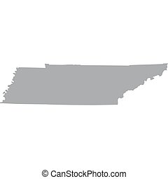 US state of Tennessee - map of the US state of Tennessee
