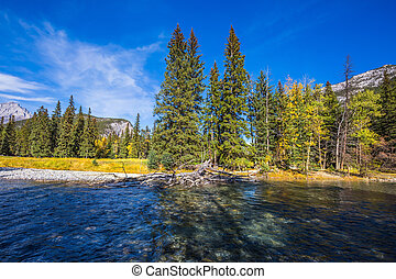 . Mountain and beneaped river