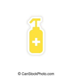 icon sticker realistic design on paper antiseptic