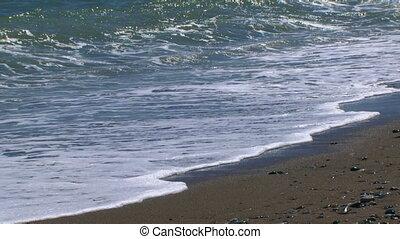 Sea waves - Beautiful ocean waves rolled ashore