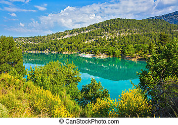 The canyon in the French Alps - Verdon - The biggest...
