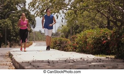 7-Slowmotion People Doing Sports Fitness Training Running -...