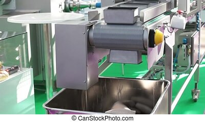 Dough portioner with integrated cutter and conveyor belt,...