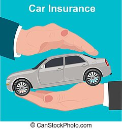 Car insurance, protection concept