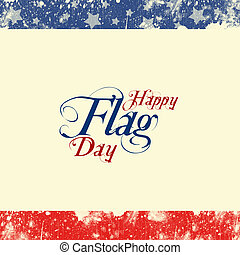 Flag Day - A header footer illustration with United States...