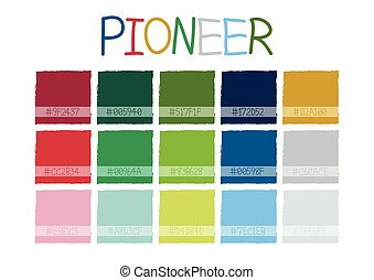 Pioneer Color Tone with Code Vector Illustration