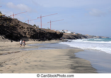 Beach on Canary Island Fuerteventura, Spain