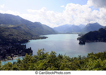 Annecy lake in France - Overview of annecy lake, from...