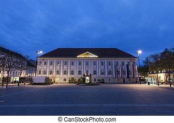 Neues Rathaus on Neuer Platz in Klagenfurt. Klagenfurt,...