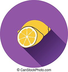 Lemon icon Flat design Vector illustration