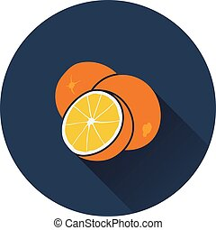 Orange icon Flat design Vector illustration