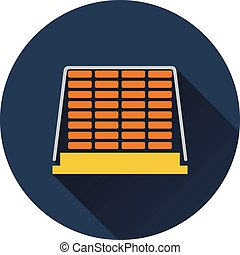 Icon of construction pallet Flat design Vector illustration...
