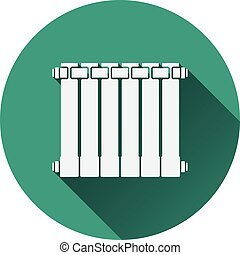 Icon of Radiator Flat design Vector illustration